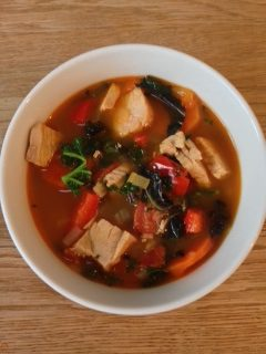 Spicy Turkey Left Over Soup